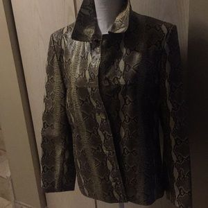 Leather jacket snake print very in never worn